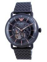 Emporio Armani Aviator Black Dial Stainless Steel Automatic AR60025 Men's Watch