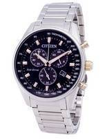 Citizen Eco-Drive Chronograph Tachymeter AT2396-86E Men's Watch