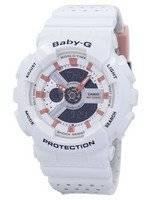 Casio Baby-G Shock Resistant World Time Analog Digital BA-110PP-7A2 Women's Watch