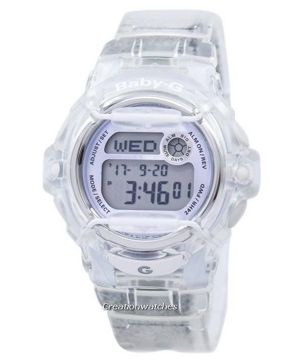 Refurbished Casio Baby-G Shock Resistant Digital World Time Quartz BG-169R-7E BG169R-7E 200M Women's Watch