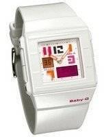 Casio Baby-G White Alarm World Time Digital BGA-200PD-7B BGA-200PD BGA-200PD-7 Ladies Watch