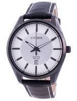 Citizen Silver Dial Leather Strap Quartz BI1035-09A 100M Men's Watch