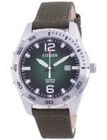 Citizen Green Dial Nylon Strap Quartz BI1041-06X 100M Men's Watch