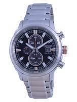 Relógio masculino Citizen Chronograph Black Dial Eco-Drive CA0730-85E 100M