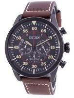 Citizen Chronograph Calf Leather Eco-Drive CA4218-14E 100M Men's Watch