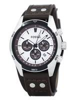 Fossil Cuff Cronógrafo Tan Couro CH2565 Men Watch
