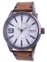 Relógio masculino Diesel Rasp NSBB com mostrador prateado Quartz DZ1905