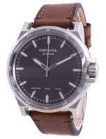 Relógio masculino diesel D-48 cinza com mostrador com pulseira de couro quartzo DZ1910