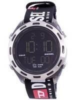 Diesel Crusher Digital Black Nylon Quartz DZ1914 Men's Watch
