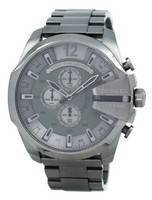 Diesel Mega Chief Quartz Chronograph Grey Dial Black IP DZ4282 Men's Watch