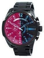 Diesel Mega Chief black Ion Plated Brown Dial DZ4318 Men's Watch