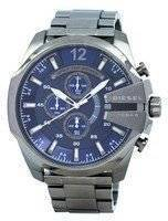 Diesel Mega Chief Chronograph Blue Dial 100M DZ4329 Men's Watch