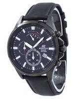 Quartzo Cronógrafo Casio Edifice EFV-530BL-1AV Relógio Masculino EFV530BL-1AV