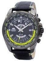 Orient relógio automático Multi ano calendário mundial tempo EU0B005B masculino