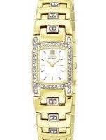 Citizen Ladies Eco-Drive EW8142-59A EW8142 Swarovski Crustal Gold Tone Watch