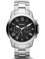 Fossil Grant Chronograph Black Dial Assista FS4736 Masculina