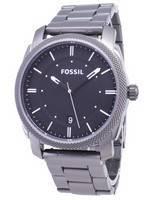 Fóssil Máquina Black Dial Smoke IP Aço Inoxidável FS4774 Men Watch