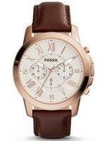 Fóssil Grant Chronograph Brown Couro FS4991 Men Watch