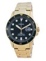 Fossil FB-01 Green Dial Stainless Steel Quartz FS5658 100M Men's Watch