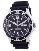 Fossil FB-02 Black Dial Silicone Strap Quartz FS5689 100M Men's Watch