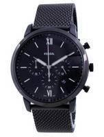 Fossil Neutra Black Dial Stainless Steel Chronograph Quartz FS5707 Men's Watch