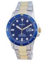 Fossil FB-01 Blue Dial Stainless Steel Quartz FS5742 100M Men's Watch