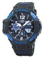 Relogio Casio G-Shock GRAVITYMASTER Twin Time Hora Mundial GA-1100-2B GA1100-2B Masculino