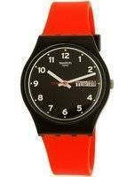 Swatch Originals Red Grin Quartz relógio GB754 Unisex