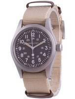 Relógio masculino Hamilton Khaki Field Brown Dial Mecânico H69439901