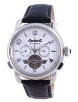Ingersoll The New England Silver Dial Open Heart Automatic I00903B Men's Watch