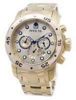 Relógio Invicta pro Diver Chronograph Dial ouro INV0074/0074 masculino