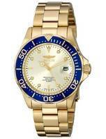 Invicta Pro Diver Quartz Gold Ion Plated 200M 14124 Men's Watch