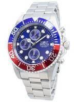 Invicta Pro Diver Chronograph 200M Blue Dial 1771 Men's Watch