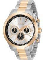 Invicta especialidade cronógrafo prata mostrador quartzo 30983 100M relógio masculino