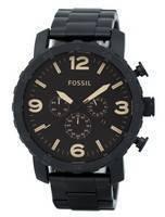 Fossil Nate cronógrafo marrom mostrador do relógio de homens JR1356