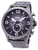 Fossil Nate Chronograph Smoke Grey Dial JR1437 Men's Watch