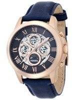 Fossil Grant Automatic Blue Skeleton Dial Blue Leather ME3029 Men's Watch