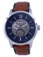 Relógio masculino Fossil Townsman Skeleton Dial Couro Automático ME3154