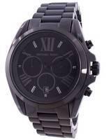 Michael Kors Bradshaw cronógrafo preto banhado a ouro MK5550 Unisex Watch