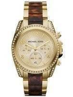 Michael Kors Blair Chronograph Champagne Dial Crystals MK6094 Women's Watch
