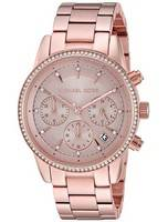 Michael Kors Ritz Chronograph Quartz Diamond Accent MK6357 Women's Watch