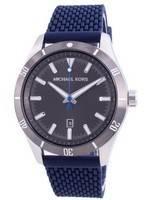 Relógio masculino Michael Kors Layton cinza com pulseira de silicone quartzo MK8818