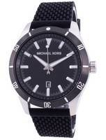 Michael Kors Layton Black Dial Silicone Strap Quartz MK8819 Men's Watch