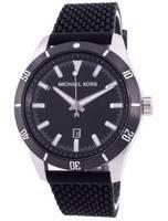 Relógio masculino Michael Kors Layton com mostrador preto pulseira de silicone quartzo MK8819