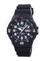 Casio Quartz Analog 100M Black Resin Strap MRW-200H-1BVDF MRW200H-1BVDF Men's Watch