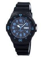 Casio Quartz 100M Analog Black Dial MRW-200H-2BVDF MRW200H-2BVDF Men's Watch