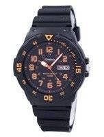 Relógio Casio Quartz analógico mostrador preto MRW-200h-4BVDF MRW-200h-4BV masculino