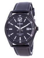 Casio Black Dial Leather Strap Quartz MTP-E170BL-1BV MTPE170BL-1BV Men's Watch