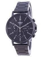 Casio Multi Hands Black Dial Stainless Steel Quartz MTP-E321B-1A MTPE321B-1 Men's Watch