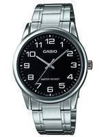 Casio Analog Stainless Steel Black Dial MTP-V002D-1AUDF MTPV002D-1AUDF Men's Watch